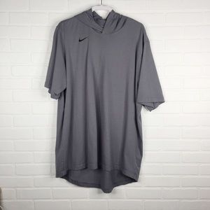 The Nike Tee Hooded Short Sleeve Pullover Gray